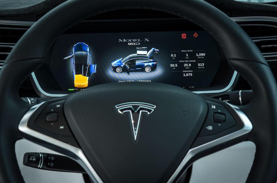 Tesla Model X instrument cluster