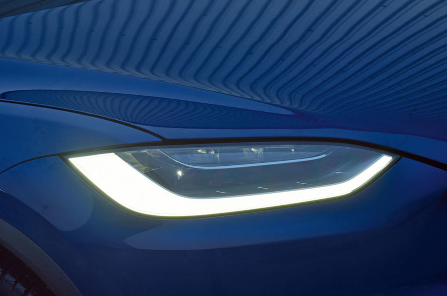 Tesla Model X LED headlights