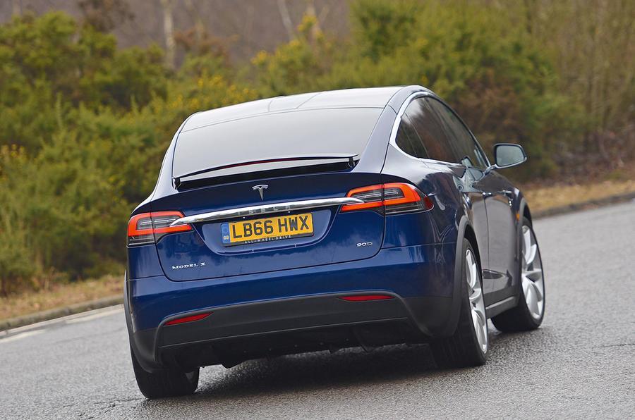 Tesla Model X rear cornering