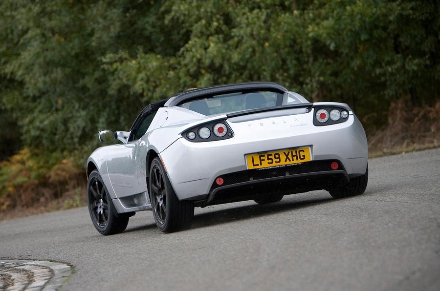 Tesla Roadster rear cornering