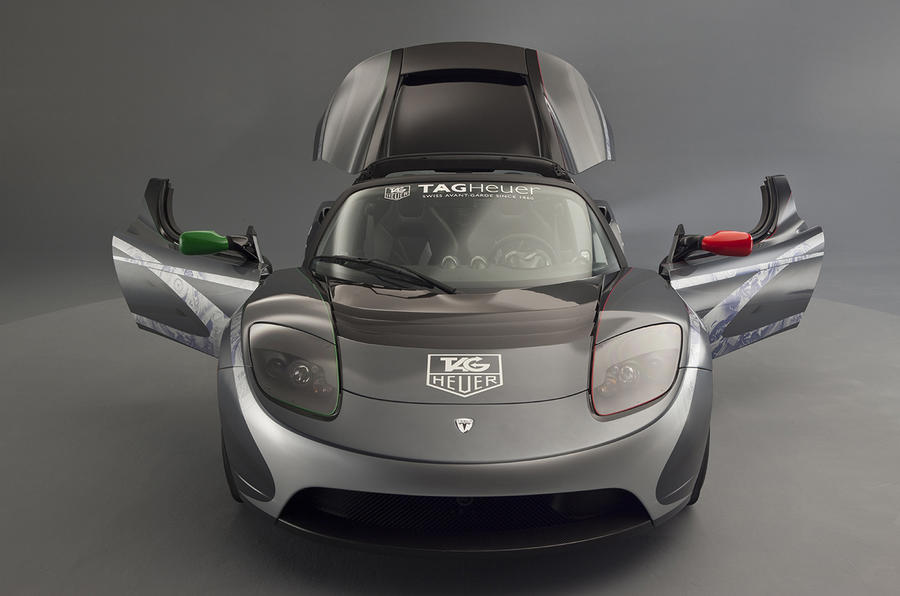 One-off Tesla Roadster by Tag