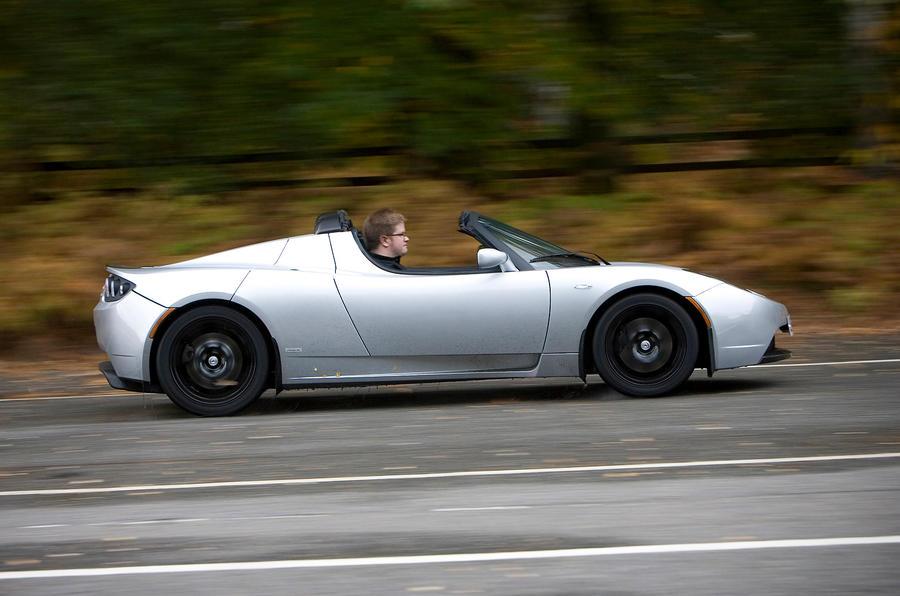Tesla Roadster side profile