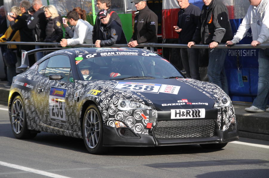 Race-bred Toyota FT-86 spied