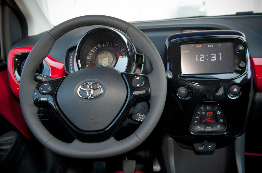 Toyota Aygo prototype steering wheel