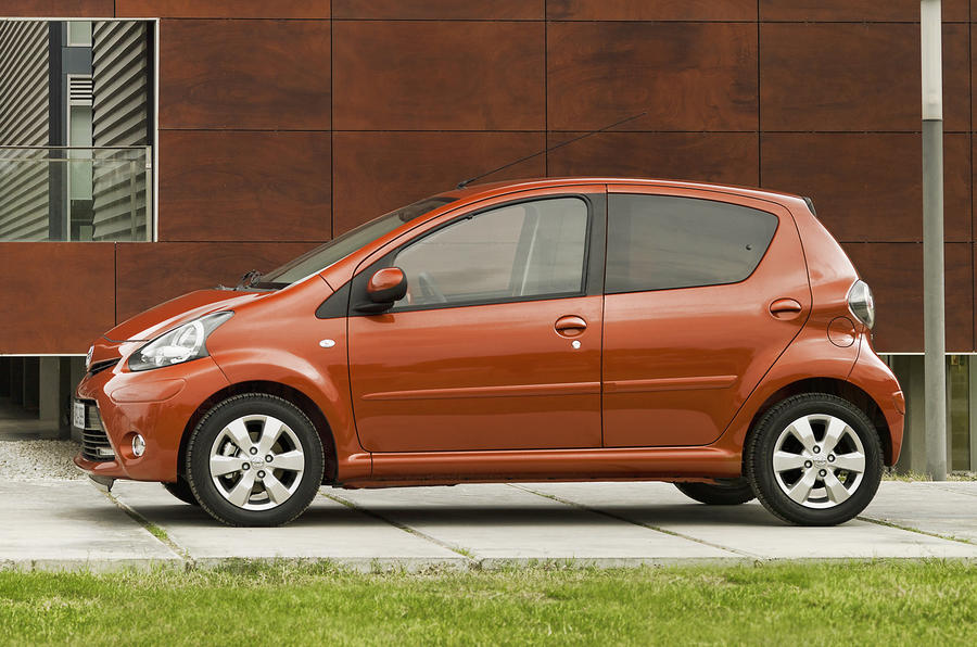 Updated Toyota Aygo shown