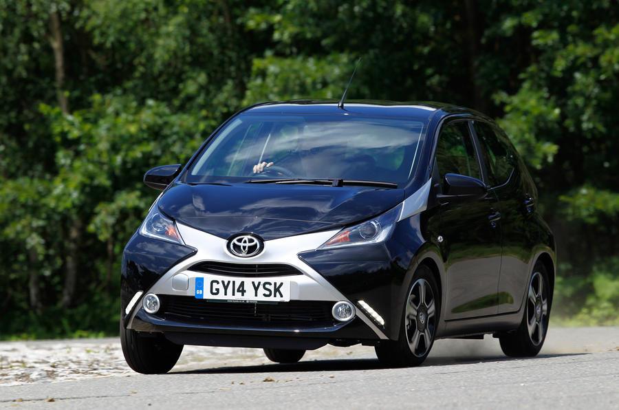 Toyota Aygo cornering
