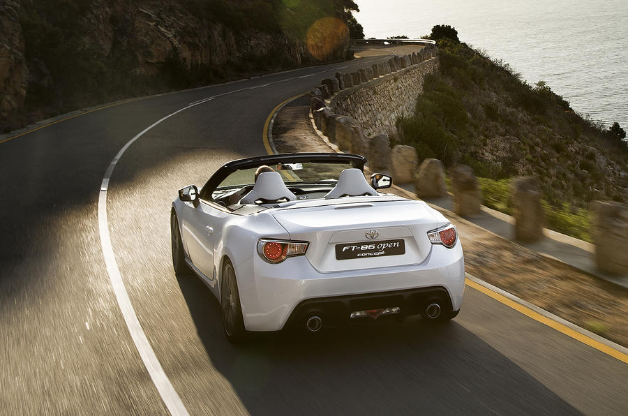 Toyota FT-86 Open concepts roof shown
