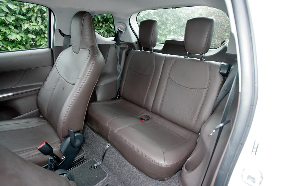 Toyota iQ rear seats