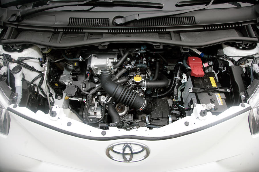 Toyota iQ engine bay