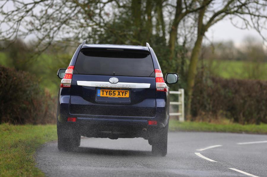 Toyota Land Cruiser rear cornering