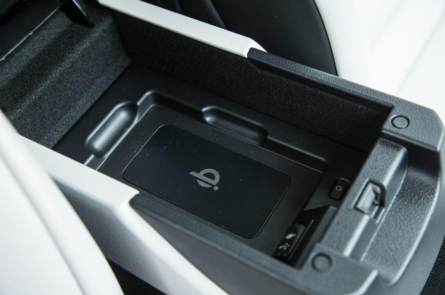 Toyota Mirai wireless charging port