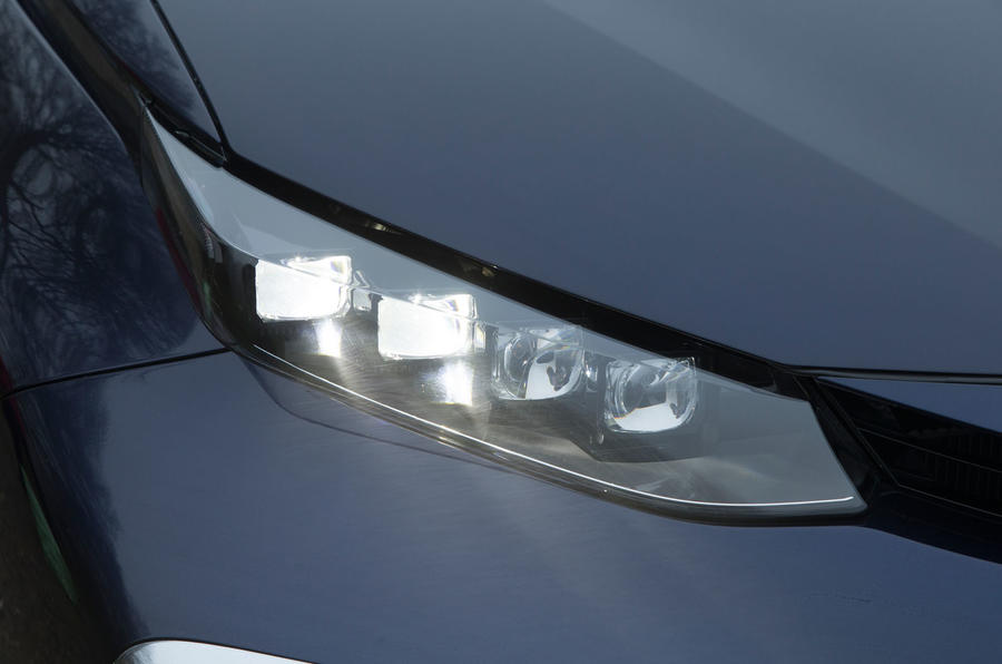 Close-up of the Toyota Mirai headlight