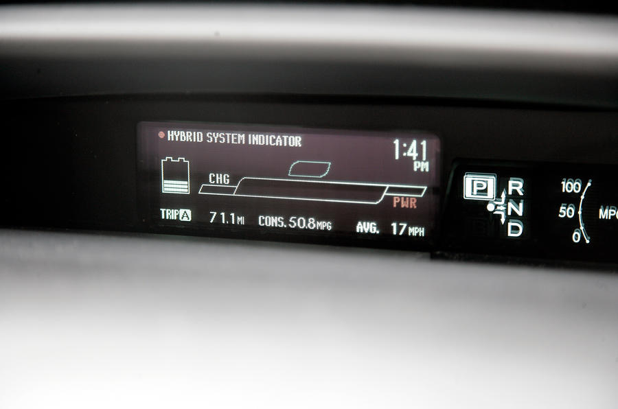 Toyota Prius digital information cluster
