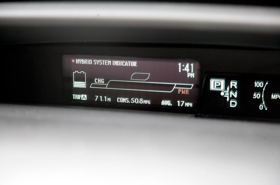 Toyota Prius digital information cluster
