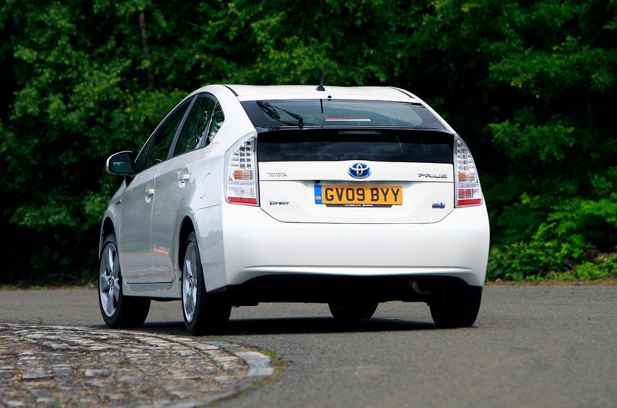 Toyota Prius rear cornering