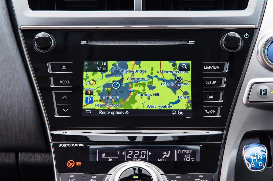 Toyota Prius+ infotainment system
