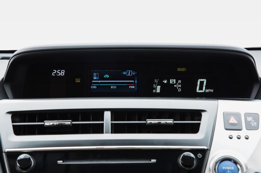 Toyota Prius+ digital instrument cluster