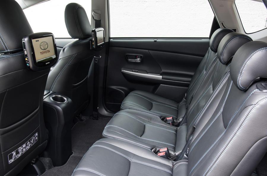 Toyota Prius+ rear seats