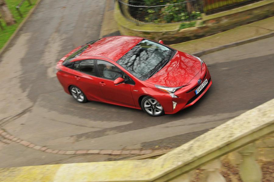 Toyota Prius hard cornering