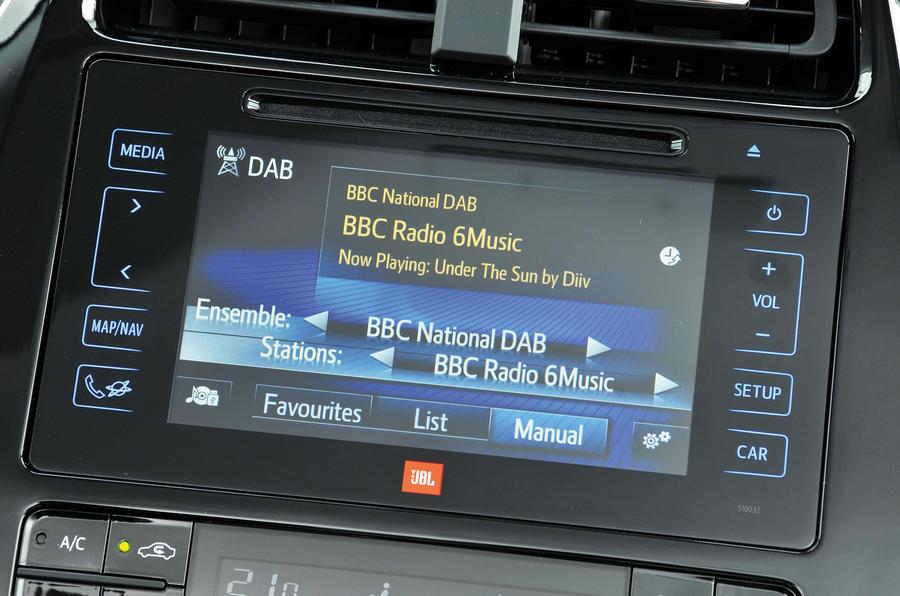 Toyota Prius infotainment system