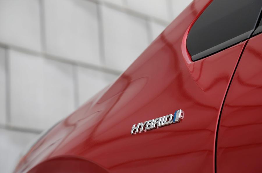 Toyota Prius Hybrid badging