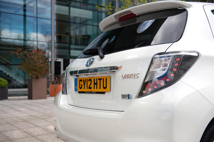 Toyota Yaris Hybrid rear end