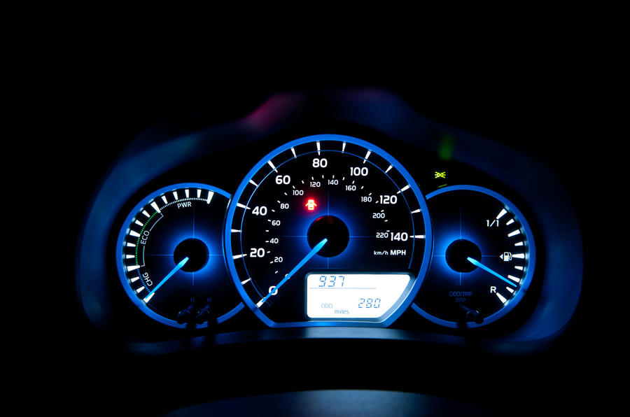 Toyota Yaris Hybrid instrument cluster