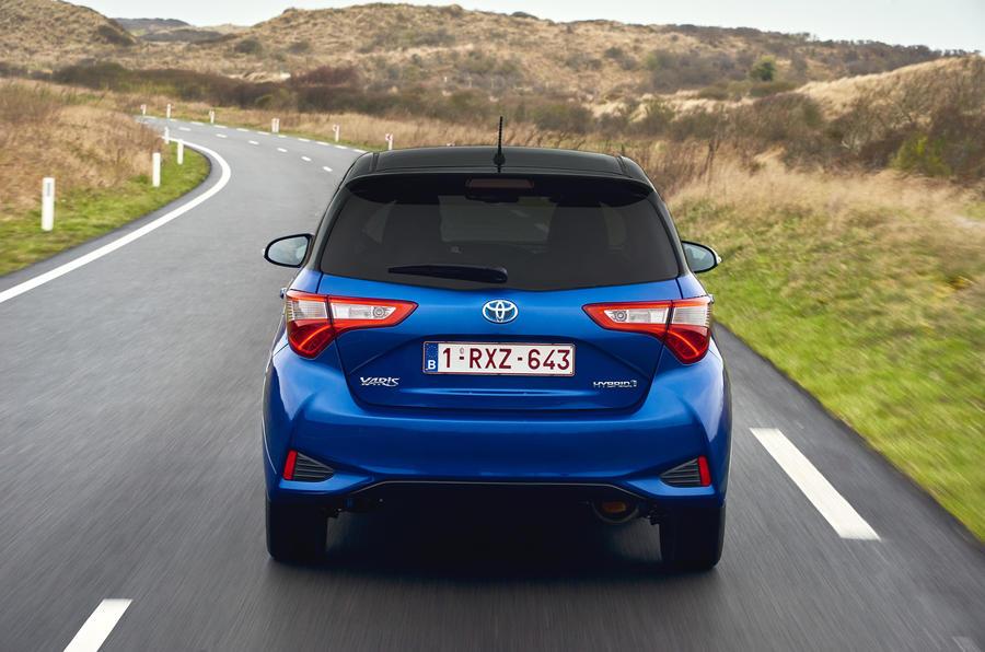 Toyota Yaris Hybrid rear cornering