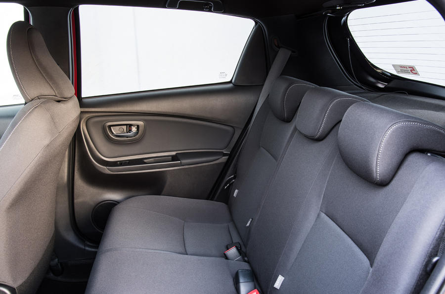 Toyota Yaris Hybrid rear seats