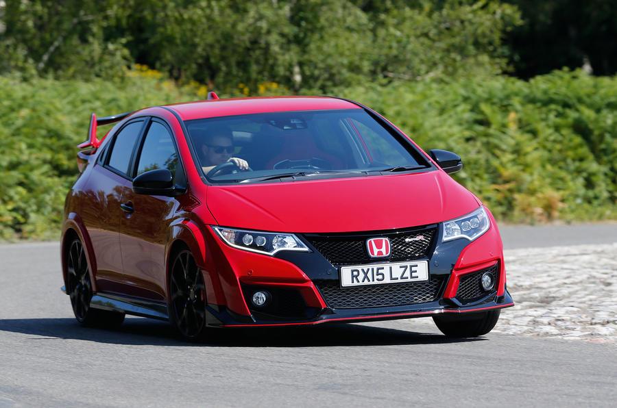 Honda Civic Type-R hard cornering
