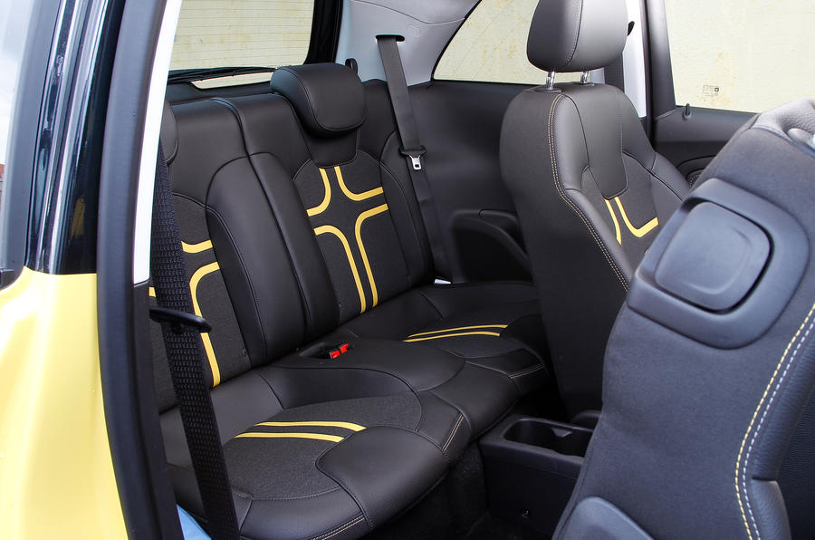 Vauxhall Adam Slam rear seats