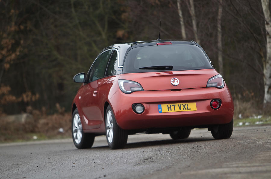Vauxhall Adam rear cornering