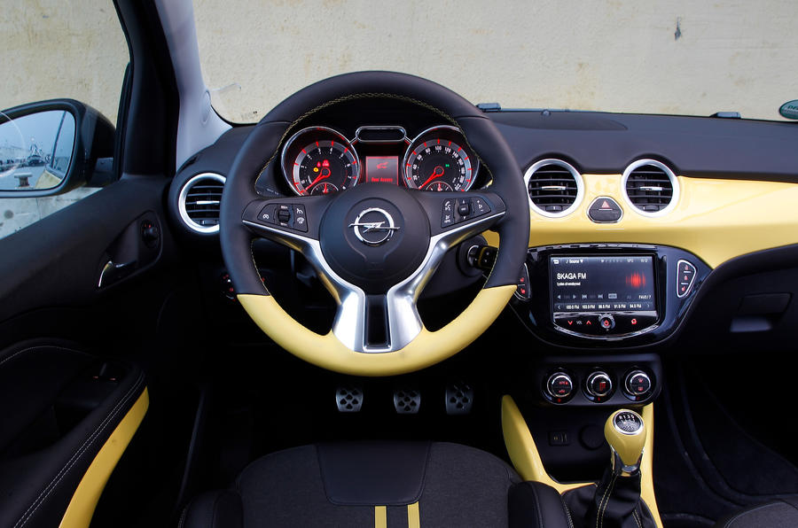 Vauxhall Adam Slam dashboard
