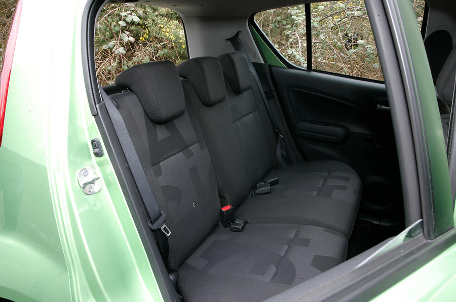 Vauxhall Agila rear seats