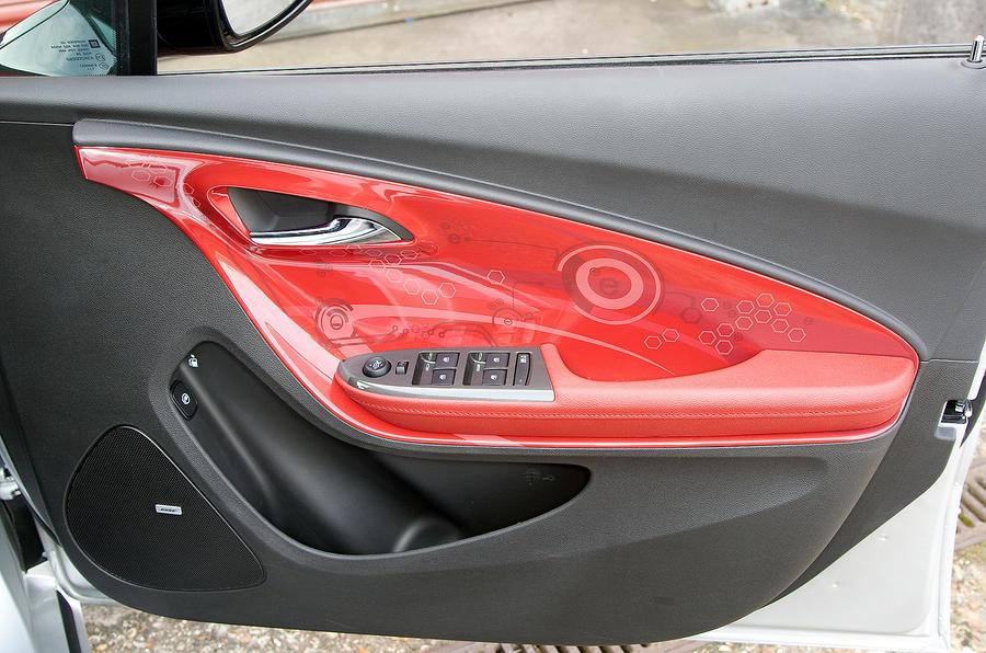 Vauxhall Ampera's funky door cards
