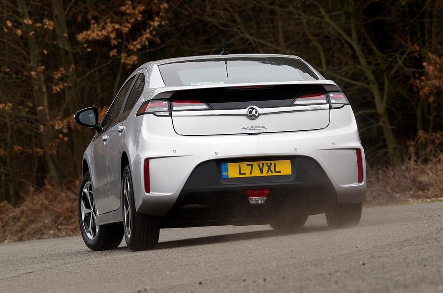 Vauxhall Ampera rear cornering