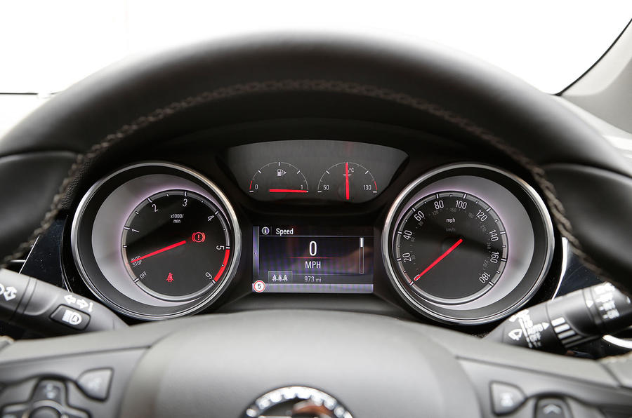 Vauxhall Astra instrument cluster