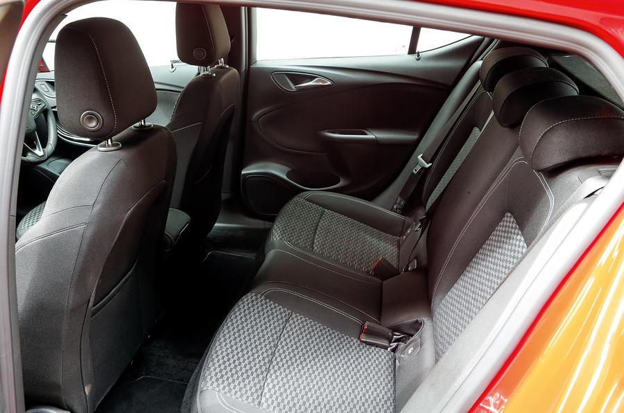 Vauxhall Astra rear seats