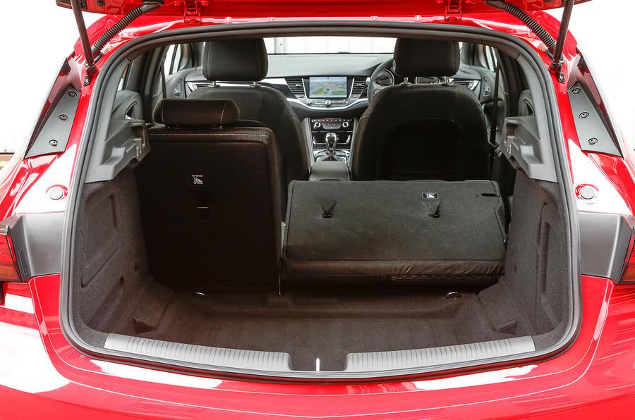 Vauxhall Astra seat flexibility