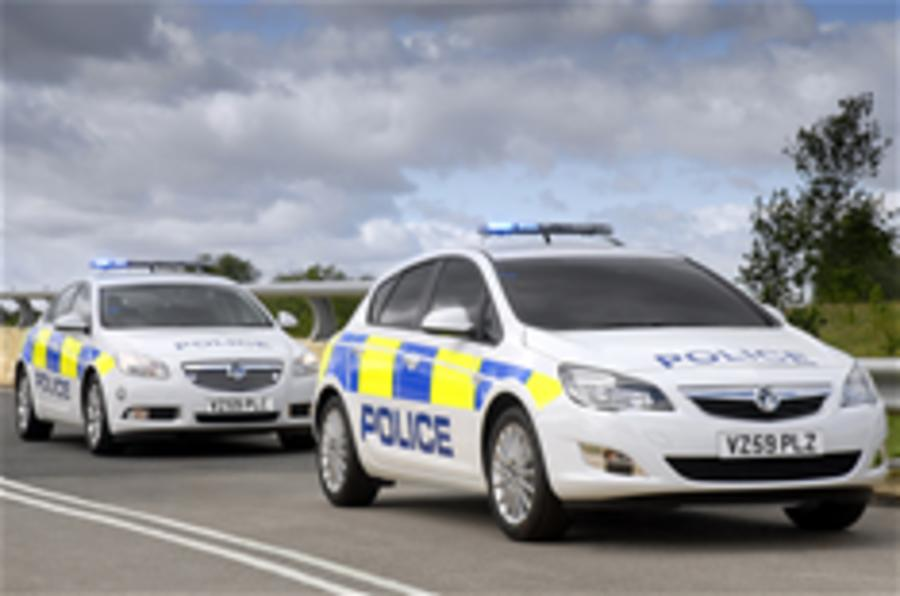 New Vauxhall Astra police car