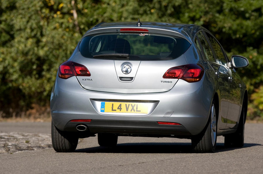 Vauxhall Astra rear cornering