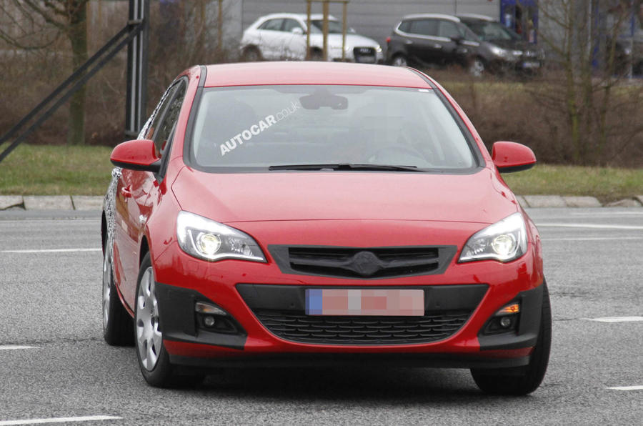 Vauxhall Astra saloon spied