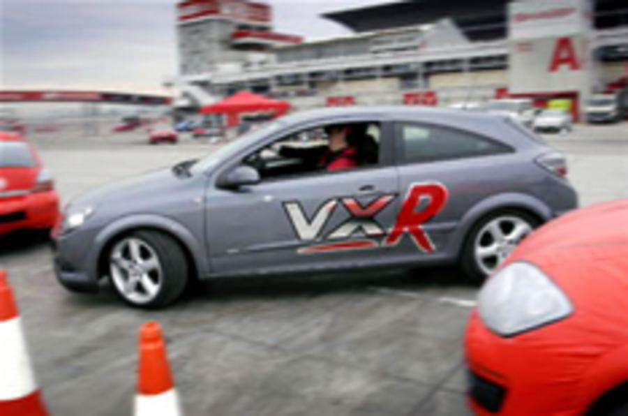 Test drive Vauxhall's VXR8 on the track