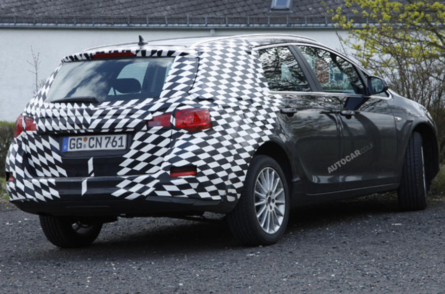 Vauxhall Astra estate spied