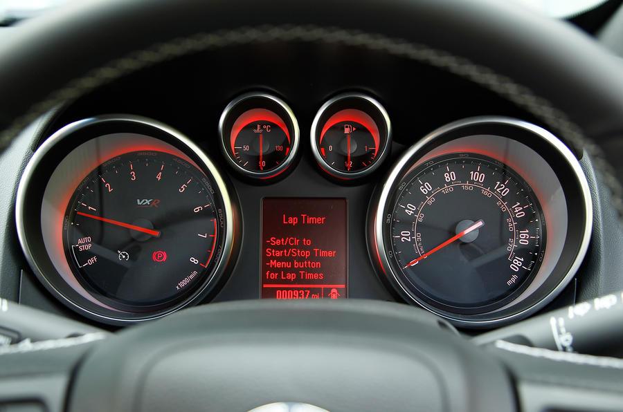 Vauxhall GTC VXR instrument cluster