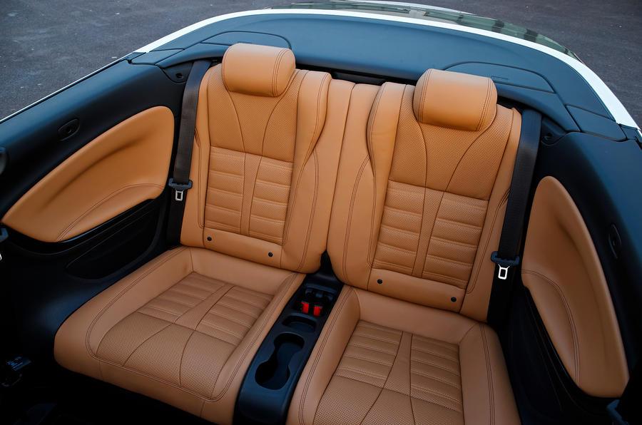 Vauxhall Cascada rear seats
