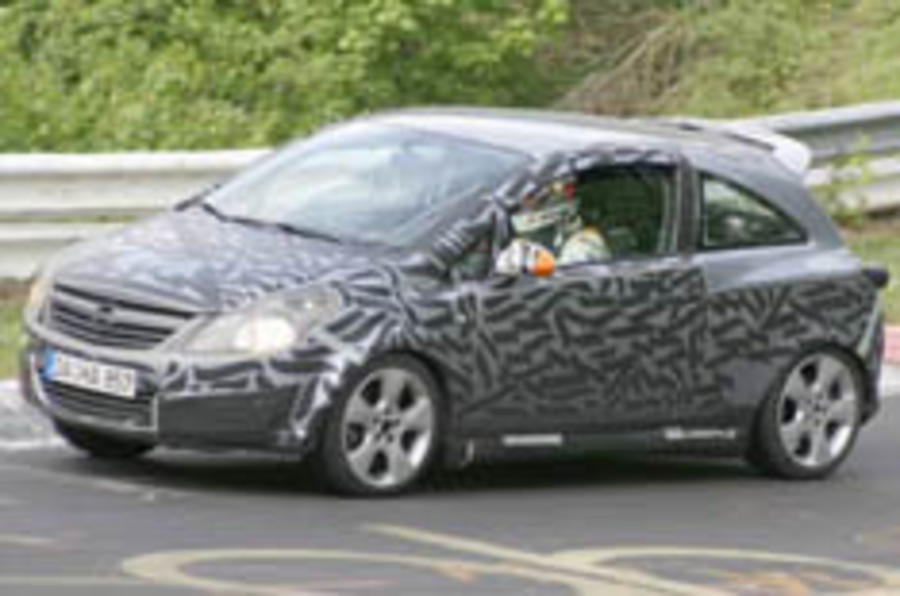 Corsa VXR caught in testing