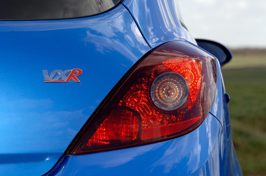 Vauxhall Corsa VXR rear light