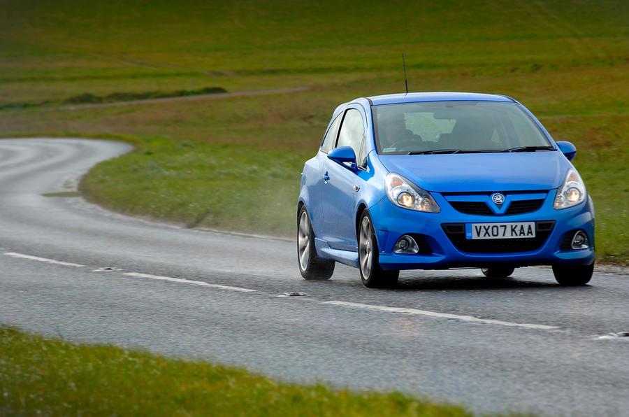 Vauxhall Corsa VXR cornering