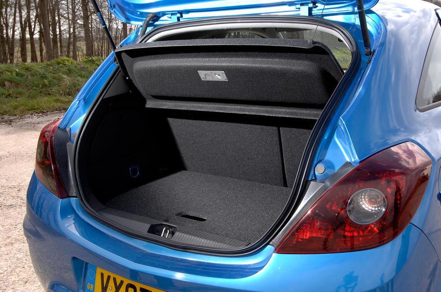 Vauxhall Corsa VXR boot space